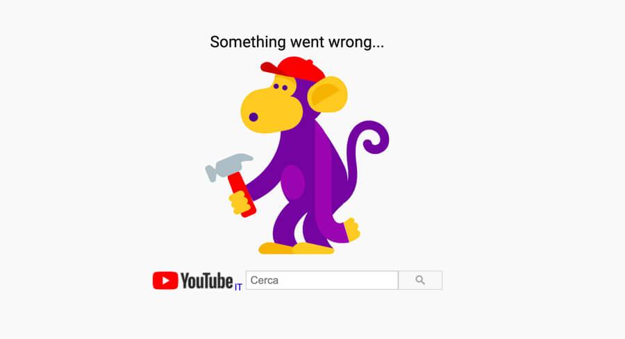 YouTube down non funziona