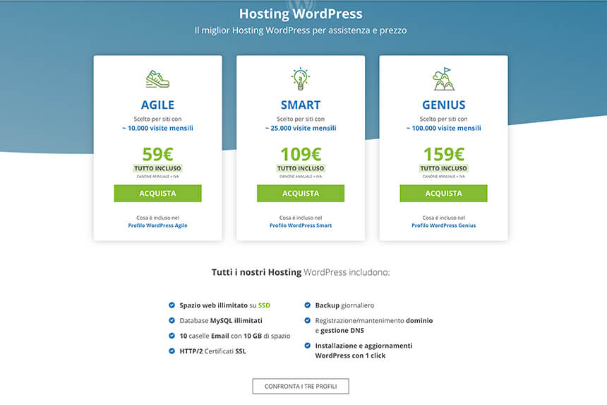 miglior hosting WordPress Host.it